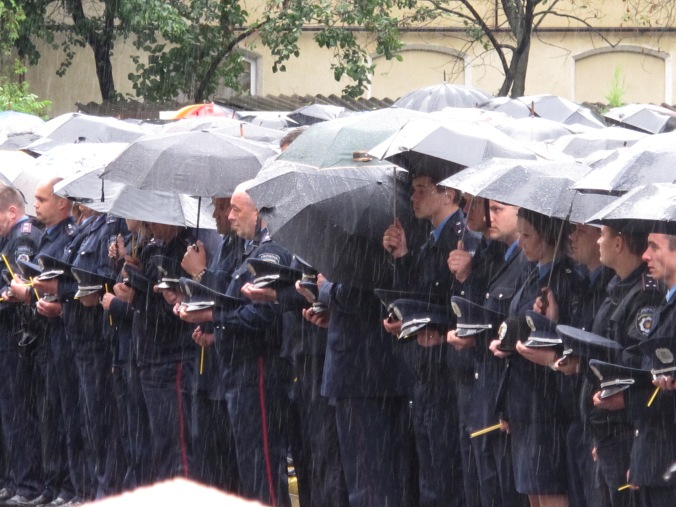 Police mourn their fallen colleagues, Sunday 1 June, Ivno-Frankivsk